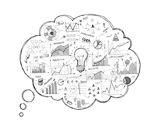 stock-illustration-36170450-doodle-speech-bubble-icon-with-infographics